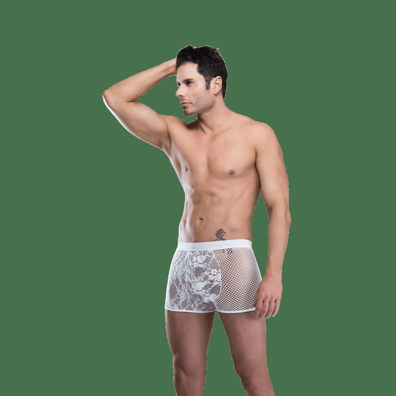 Cueca Boxer Sensual White - Sexy Fantasy