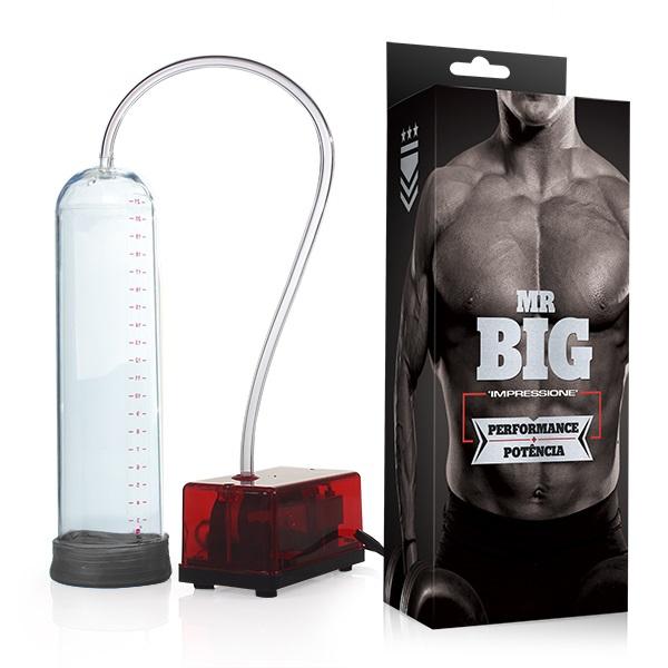Bomba Peniana Elétrica Mr.Big Transparente