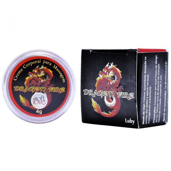 Gel Excitante Unisex Dragon Fire Luby 4gr - Soft Love  - Sex Shop Cuiaba - Sexshop - Sexyshop - Produtos Eróticos