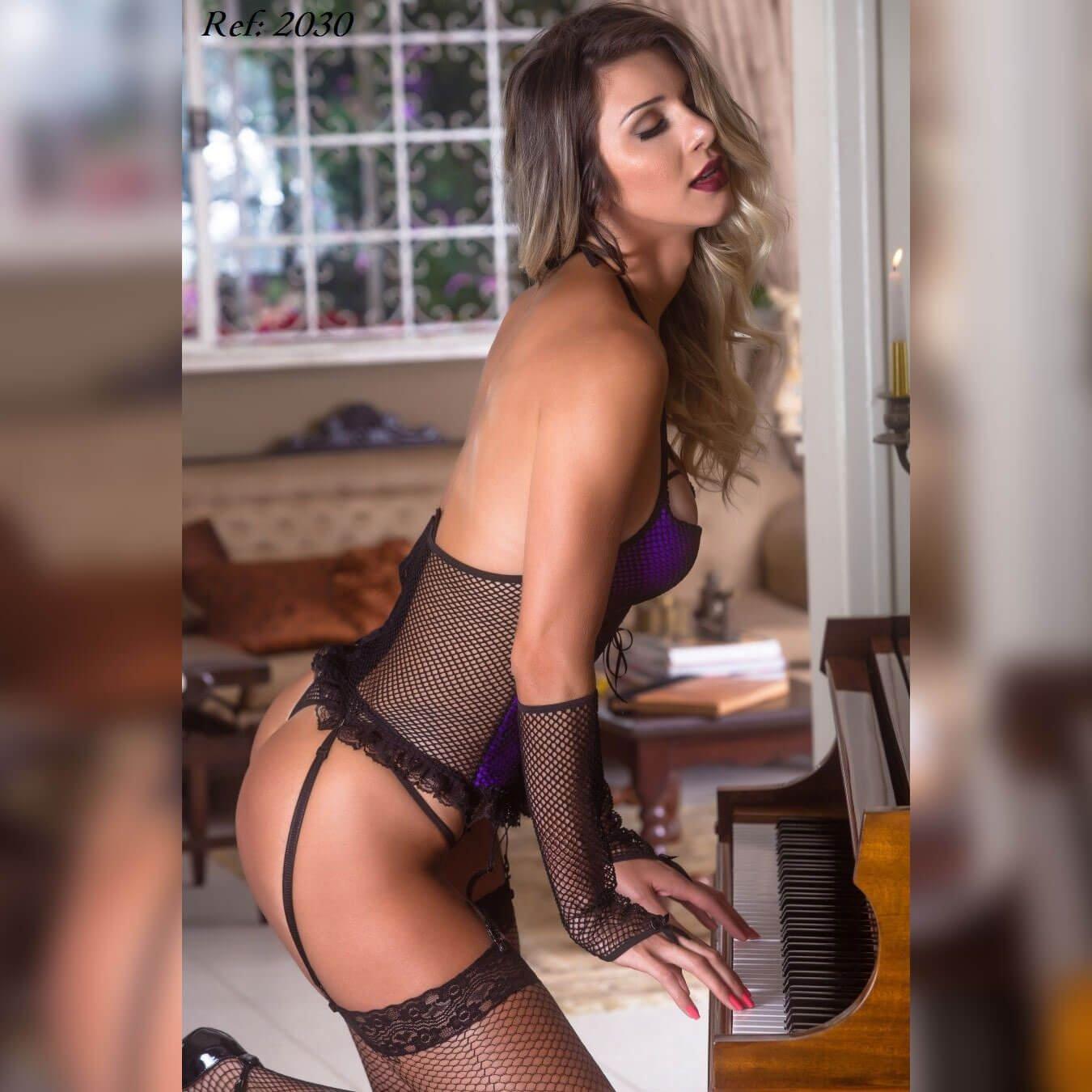 Espartilho Ravena Lingerie garota veneno  - Sex Shop Cuiaba - Sexshop - Sexyshop - Produtos Eróticos