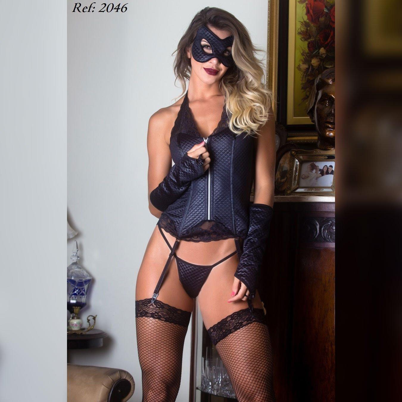 Fantasia batgirl corpete - Garota veneno