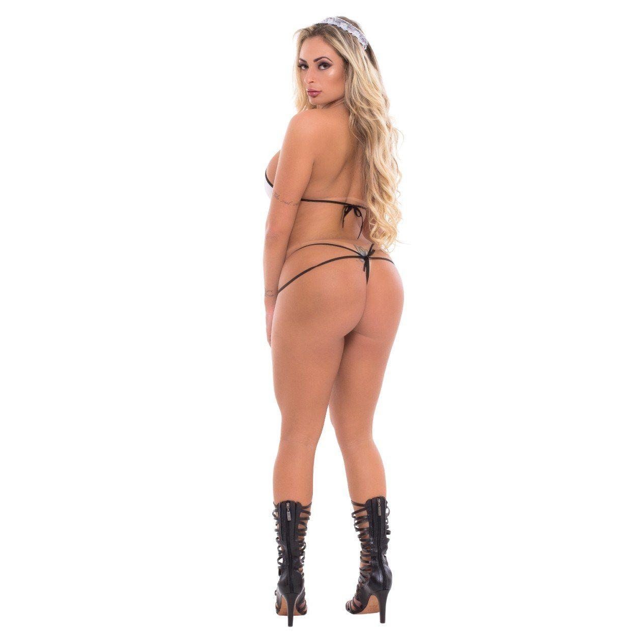 Fantasia Empregadinha Inara Pocket  - Sex Shop Cuiaba - Sexshop - Sexyshop - Produtos Eróticos