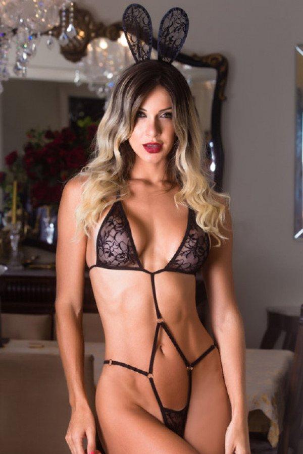 Fantasia erótica body coelhinha sensual - Garota veneno  - Sex Shop Cuiaba - Sexshop - Sexyshop - Produtos Eróticos