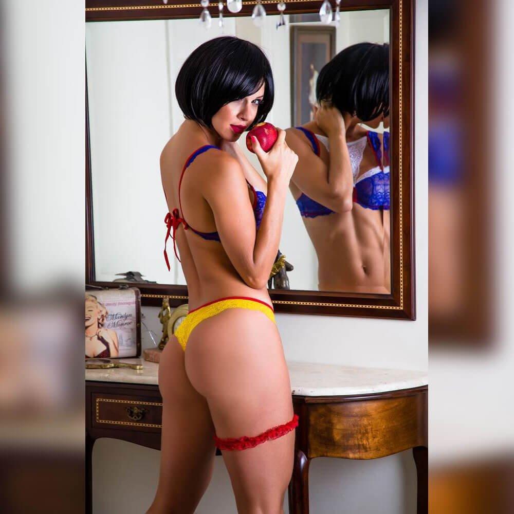 Fantasia erótica branca de neve - Garota veneno  - Sex Shop Cuiaba - Sexshop - Sexyshop - Produtos Eróticos
