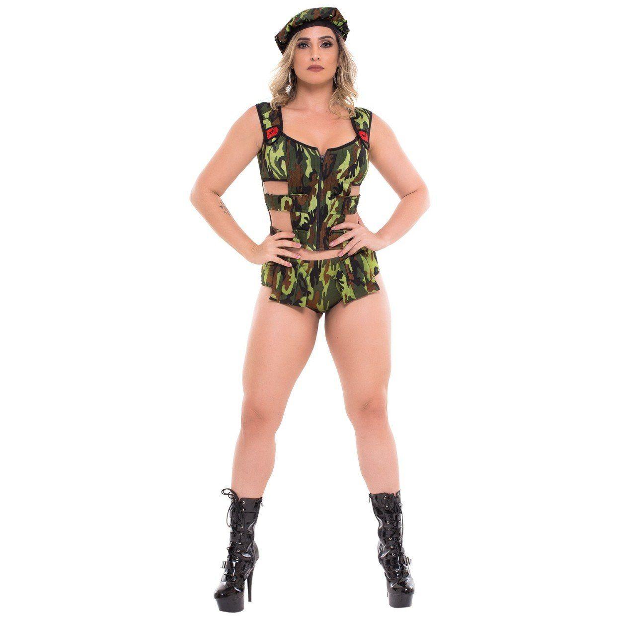 Fantasia feminina Militar SPK