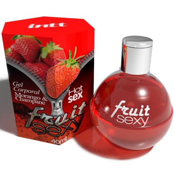 Fruit Sexy Hot - Morango com Champanhe - Gel para sexo Oral