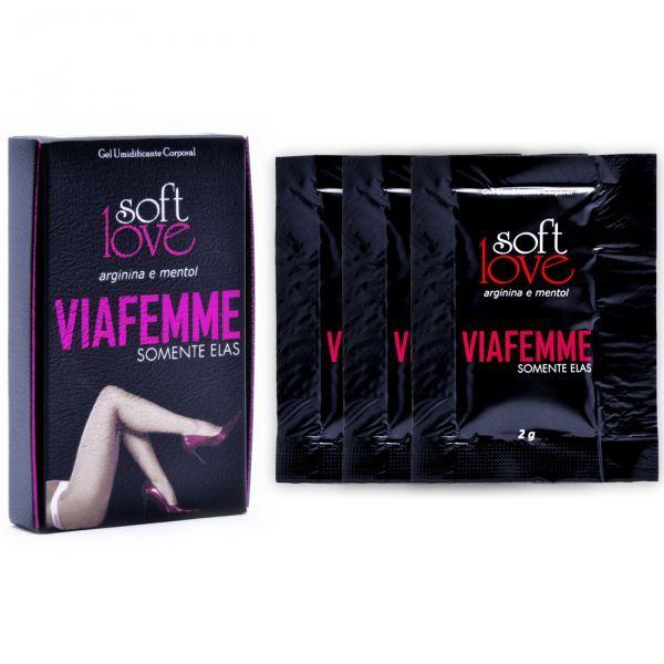 Gel Excitante Feminino em Sachê Via Femme Soft Love 2g - 3 Sachês  - Sex Shop Cuiaba - Sexshop - Sexyshop - Produtos Eróticos