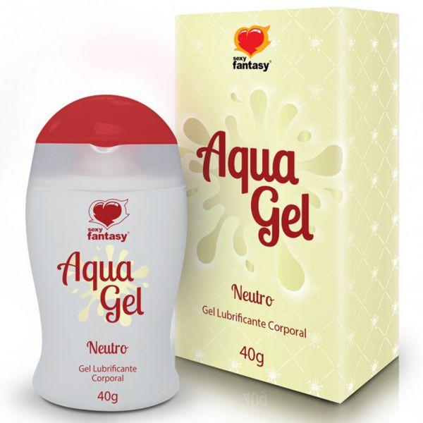 Gel Lubrificante Beijável Aqua Gel 40g Neutro - Sexy Fantasy