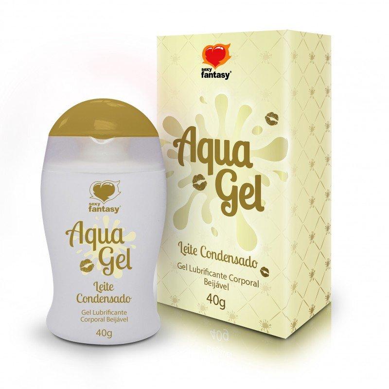 Gel Lubrificante Beijável de Leite Condensado AquaGel
