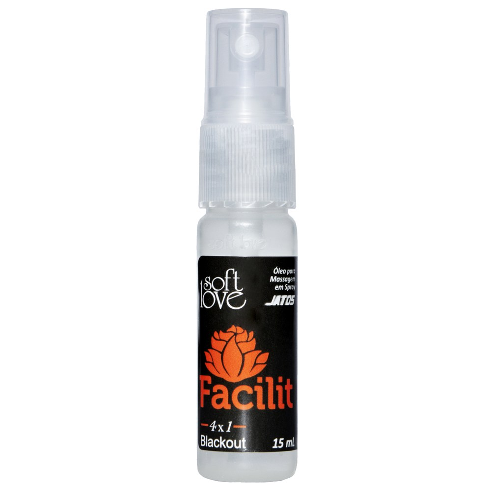 Gel Lubrificante intimo Anal Facilit Hot Blackout 4x1 - 15ml
