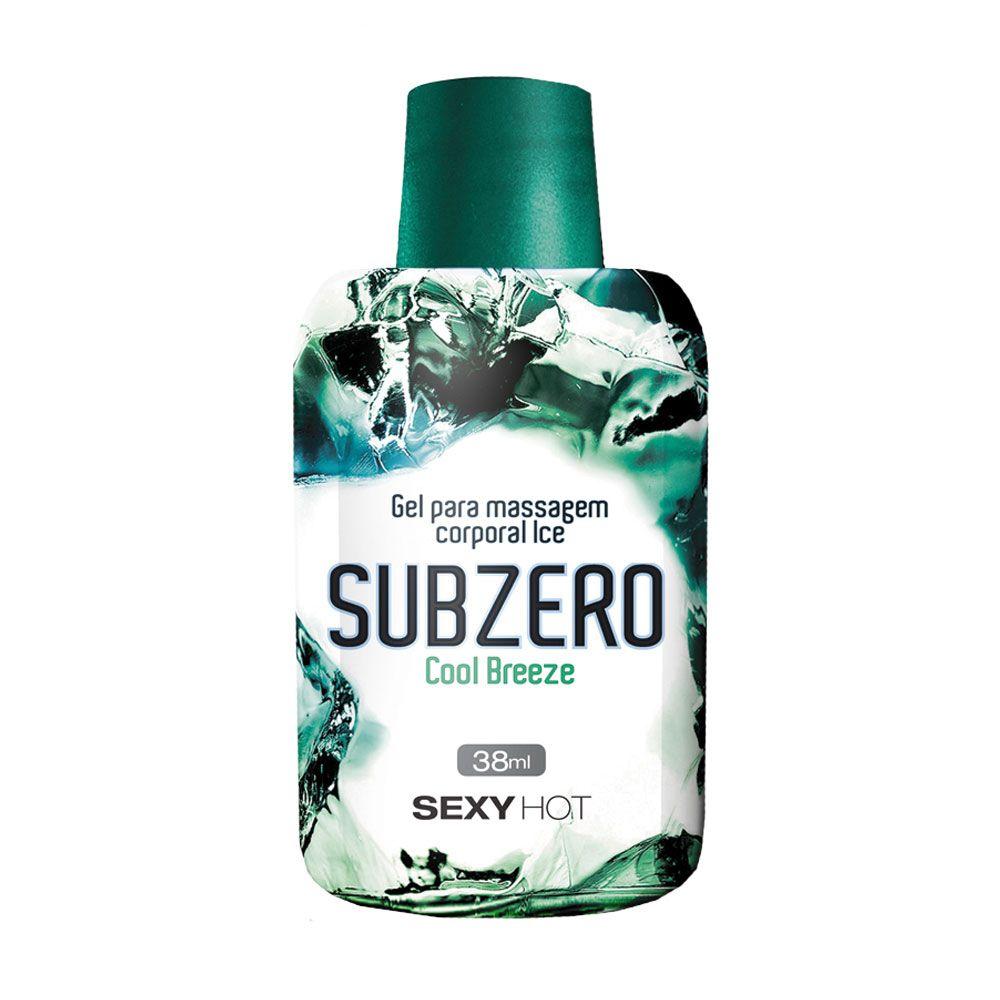 Gel Para Massagem Beijável Subzero - Cool Breeze (Esfria)