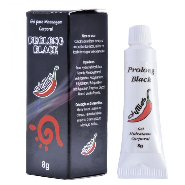 Gel Retardante Prolong Black 8g - Chillies