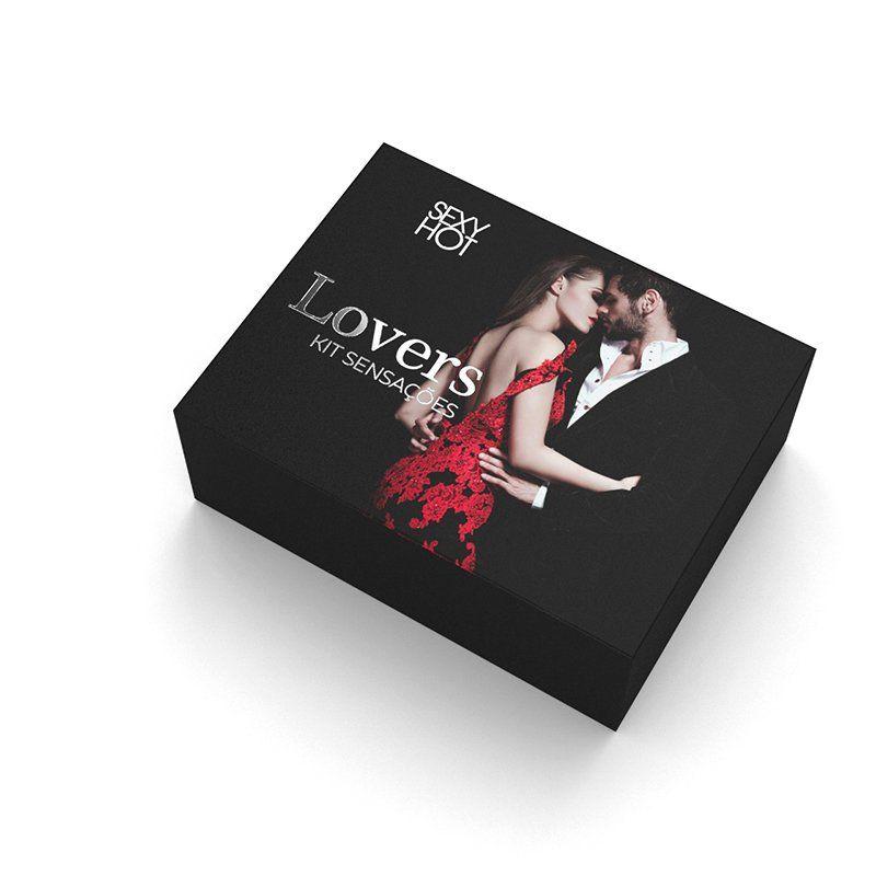 Kit Erótico Sensações - Lovers  - Sex Shop Cuiaba - Sexshop - Sexyshop - Produtos Eróticos