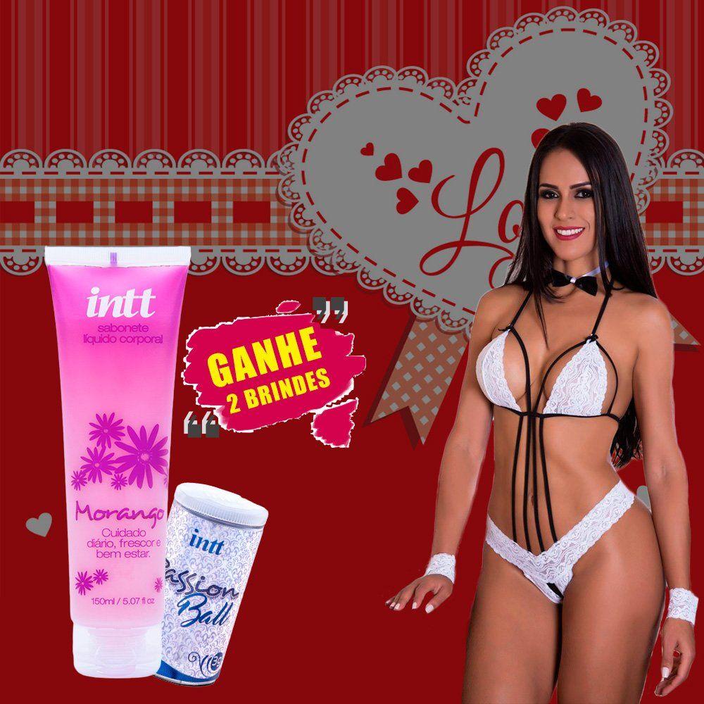 Kit fantasia feminina Garçonete com 2 Super Brindes