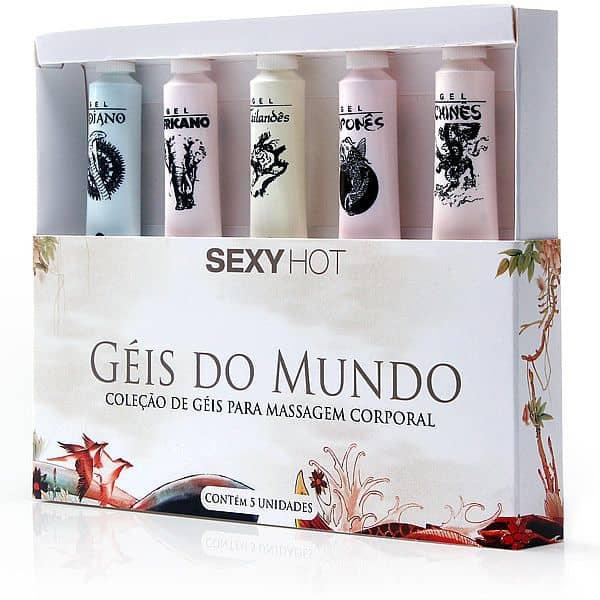 Kit Géis do Mundo - 5 bisnagas - Adão e Eva