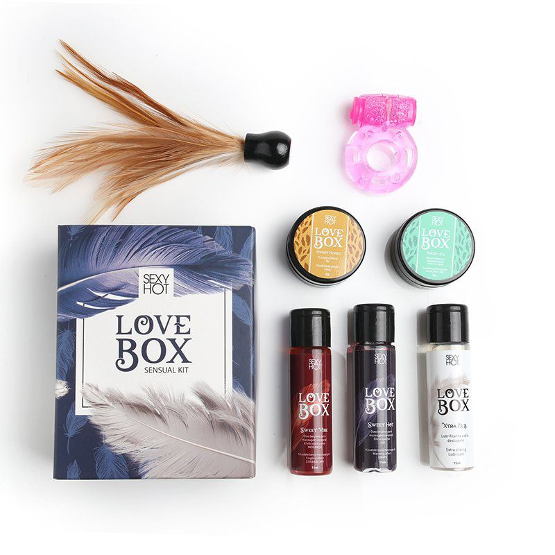 Love Box - Kit Sensações  - Sex Shop Cuiaba - Sexshop - Sexyshop - Produtos Eróticos