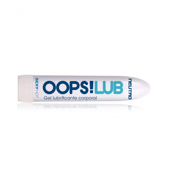 Lubrificante Gel Neutro Oops Lub com 50g  - Sex Shop Cuiaba - Sexshop - Sexyshop - Produtos Eróticos
