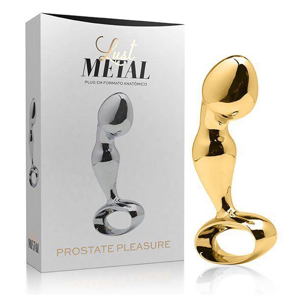 Lust Metal - Plug anal estimulador de Próstata Dourado