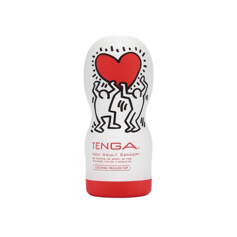 Masturbador Tenga – Keith Haring Cup Soft Tube Love  - Sex Shop Cuiaba - Sexshop - Sexyshop - Produtos Eróticos