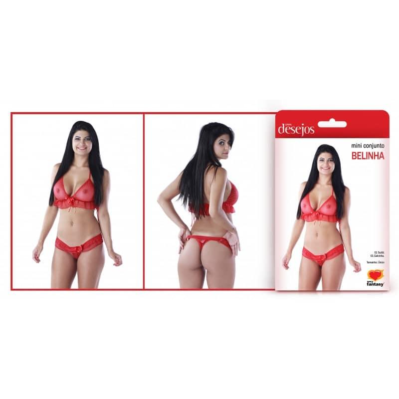 Mini Conjunto Belinha Cor Branca - Sexy Fantasy  - Sex Shop Cuiaba - Sexshop - Sexyshop - Produtos Eróticos