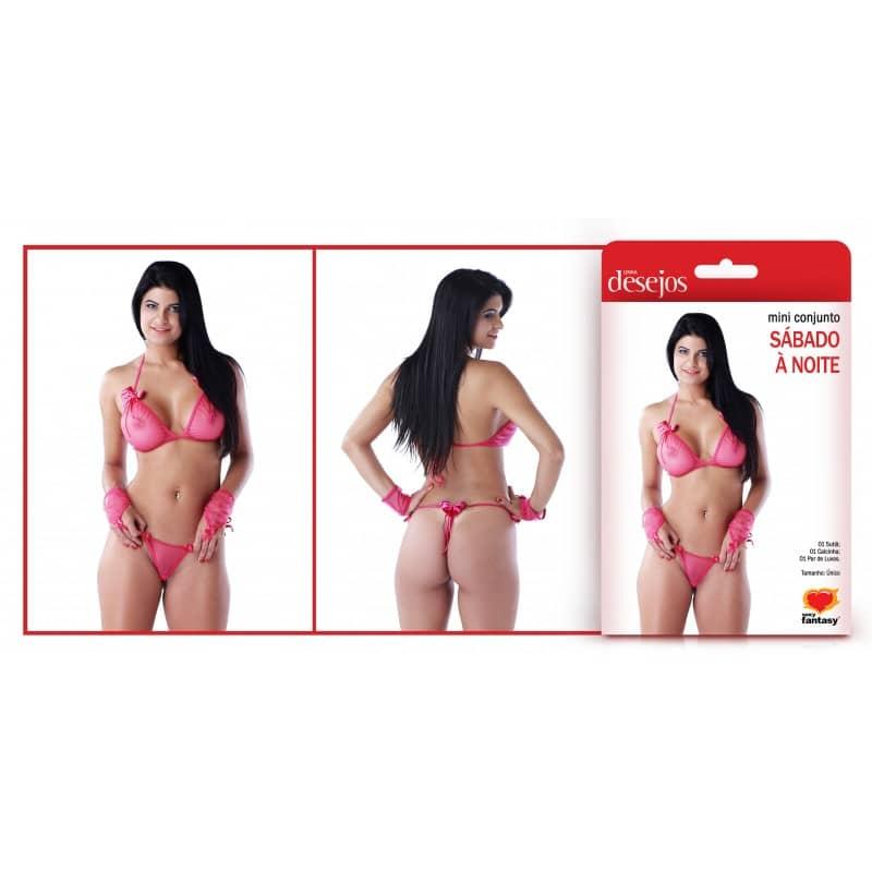MINI CONJUNTO SÁBADO À NOITE  - Sex Shop Cuiaba - Sexshop - Sexyshop - Produtos Eróticos