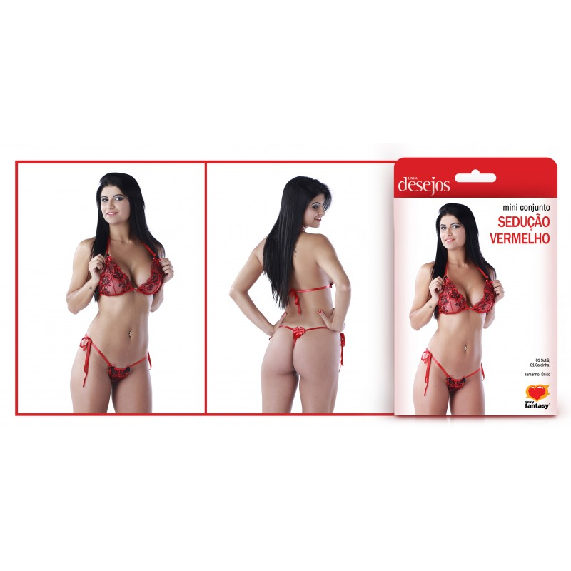 MINI CONJUNTO SEDUÇÃO  - Sex Shop Cuiaba - Sexshop - Sexyshop - Produtos Eróticos