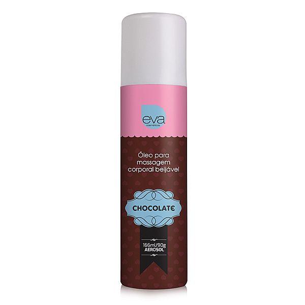 Óleo para massagem beijável Aerosol - Sabor Chocolate (166ml/90g)