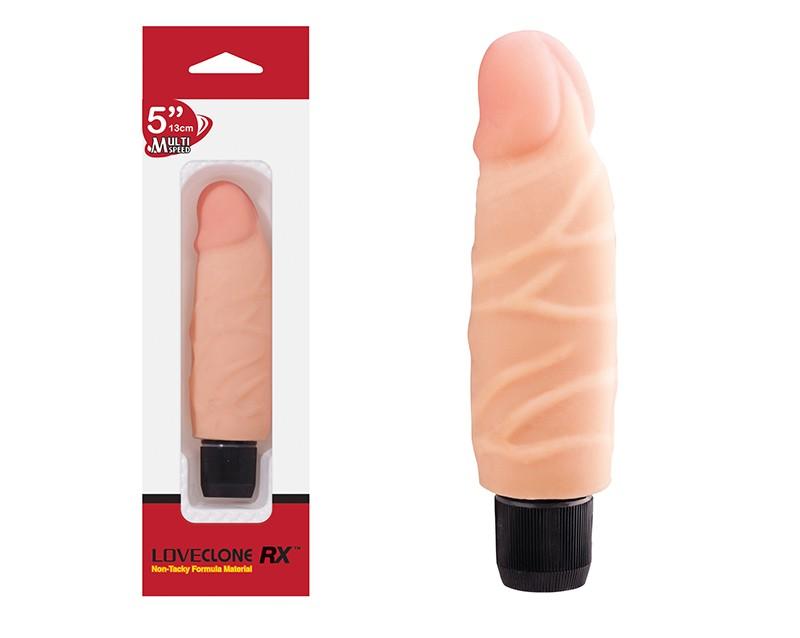 Pênis Em Cyberskin Com Vibrador 13cm - Loveclone Rx - Nanma