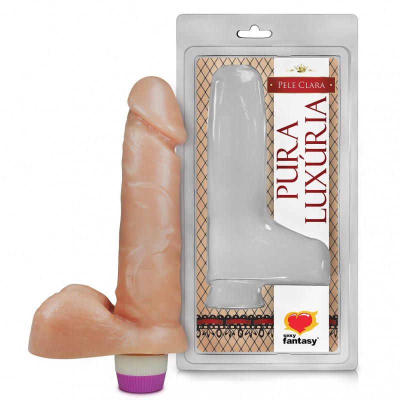 PENIS REALISTICO ESCROTO E VIBRO 15cm  - Sex Shop Cuiaba - Sexshop - Sexyshop - Produtos Eróticos