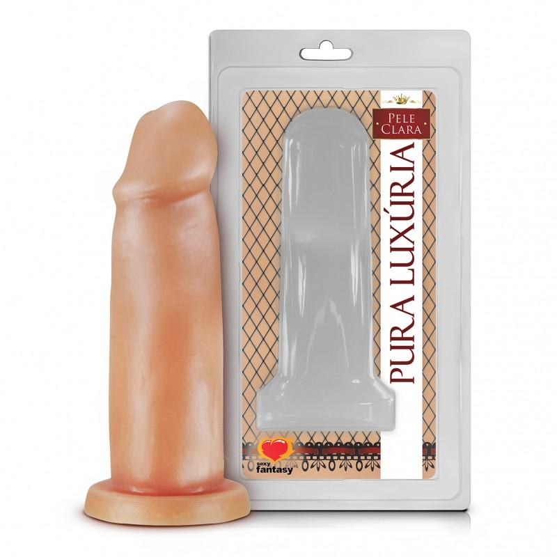 PÊNIS REALÍSTICO SEM VIBRO 14 X 4 CM  - Sex Shop Cuiaba - Sexshop - Sexyshop - Produtos Eróticos