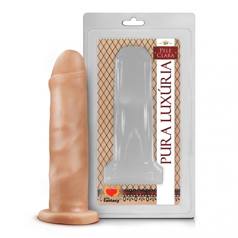 PÊNIS REALÍSTICO SEM VIBRO 15,7 X 4 CM  - Sex Shop Cuiaba - Sexshop - Sexyshop - Produtos Eróticos