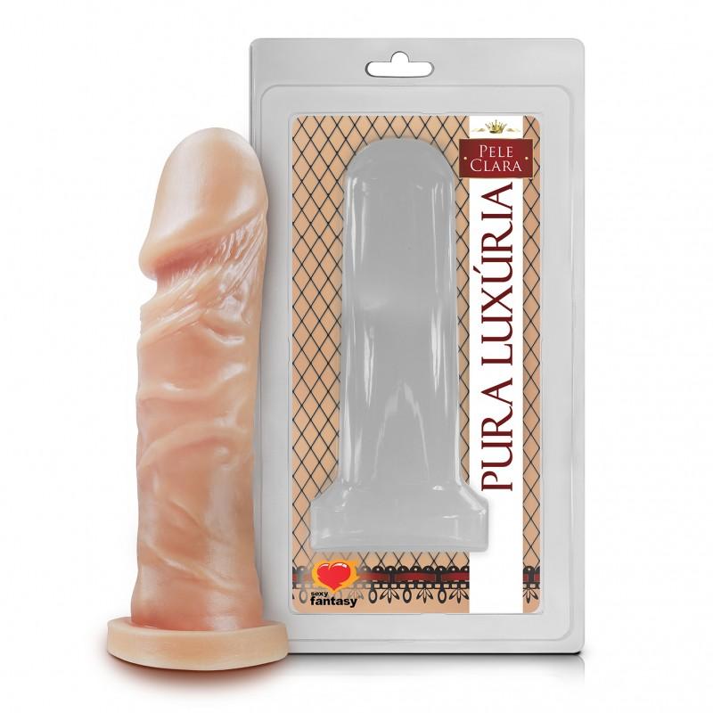 PÊNIS REALÍSTICO SEM VIBRO 15 CM  - Sex Shop Cuiaba - Sexshop - Sexyshop - Produtos Eróticos