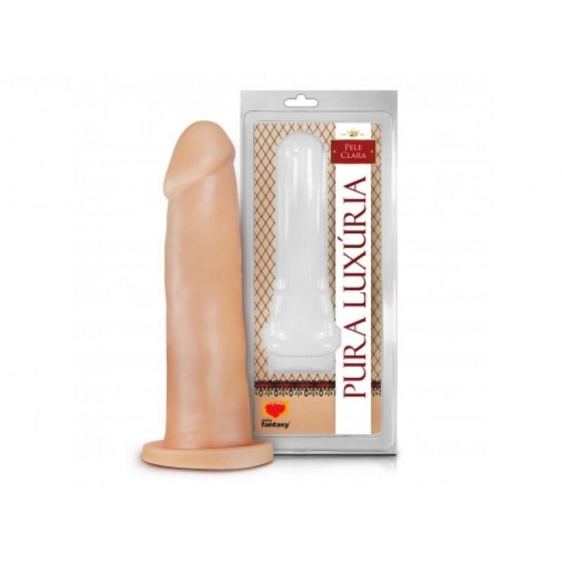 PÊNIS REALÍSTICO SEM VIBRO 18,2 X 4,7 CM  - Sex Shop Cuiaba - Sexshop - Sexyshop - Produtos Eróticos