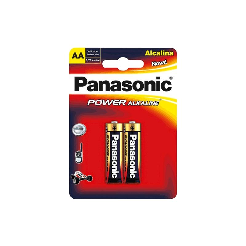 Pilha Panasonic Alcalina AA 2un