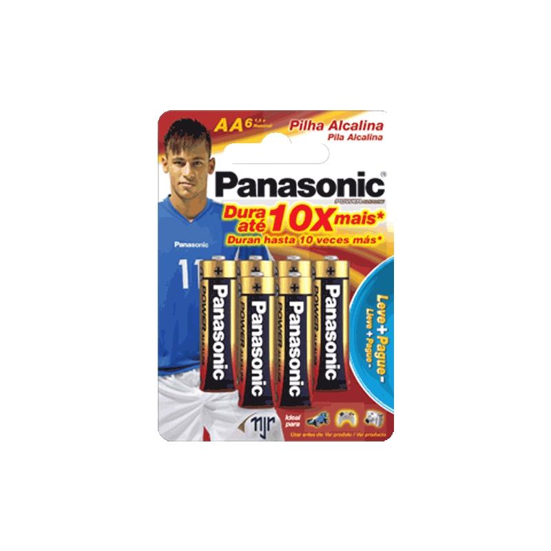 Pilha Panasonic Alcalina Palito AA 6un