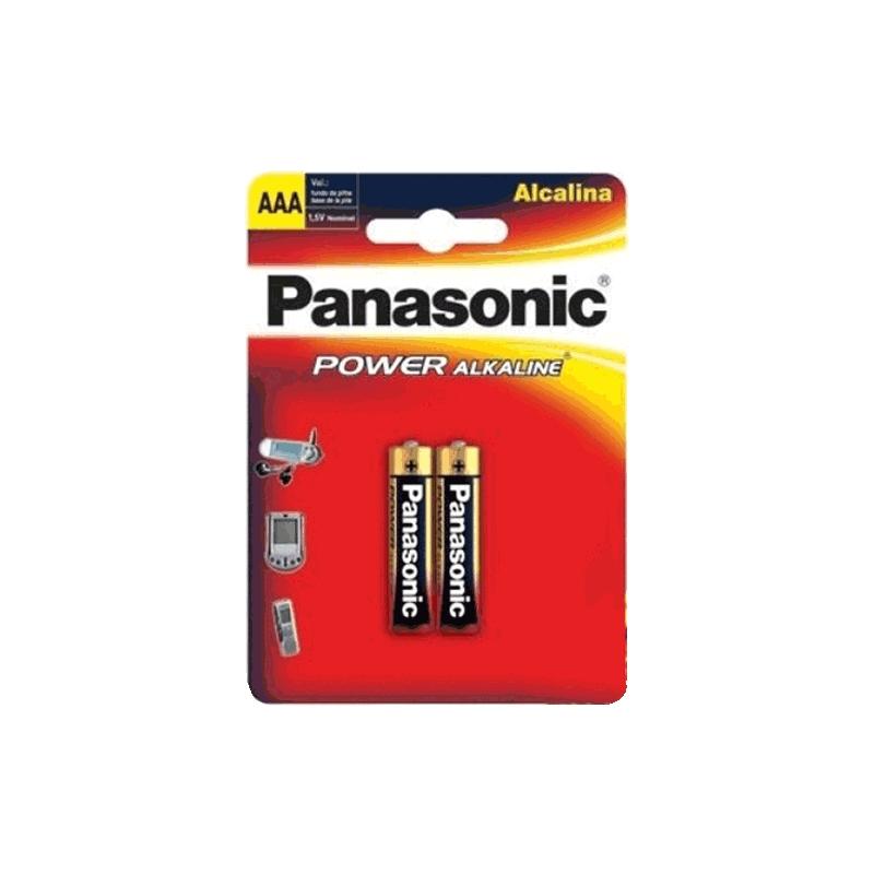 Pilha Panasonic Alcalina Palito AAA 2un