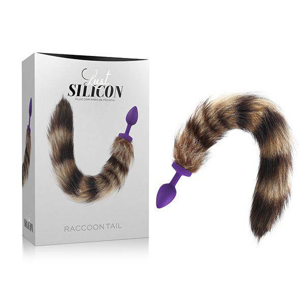 Plug anal com rabo Lust Silicon - Raccoon Tail  - Sex Shop Cuiaba - Sexshop - Sexyshop - Produtos Eróticos