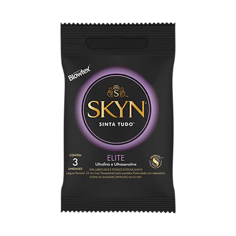 Preservativo Elite Skyn Blowtex com 3 Unidades