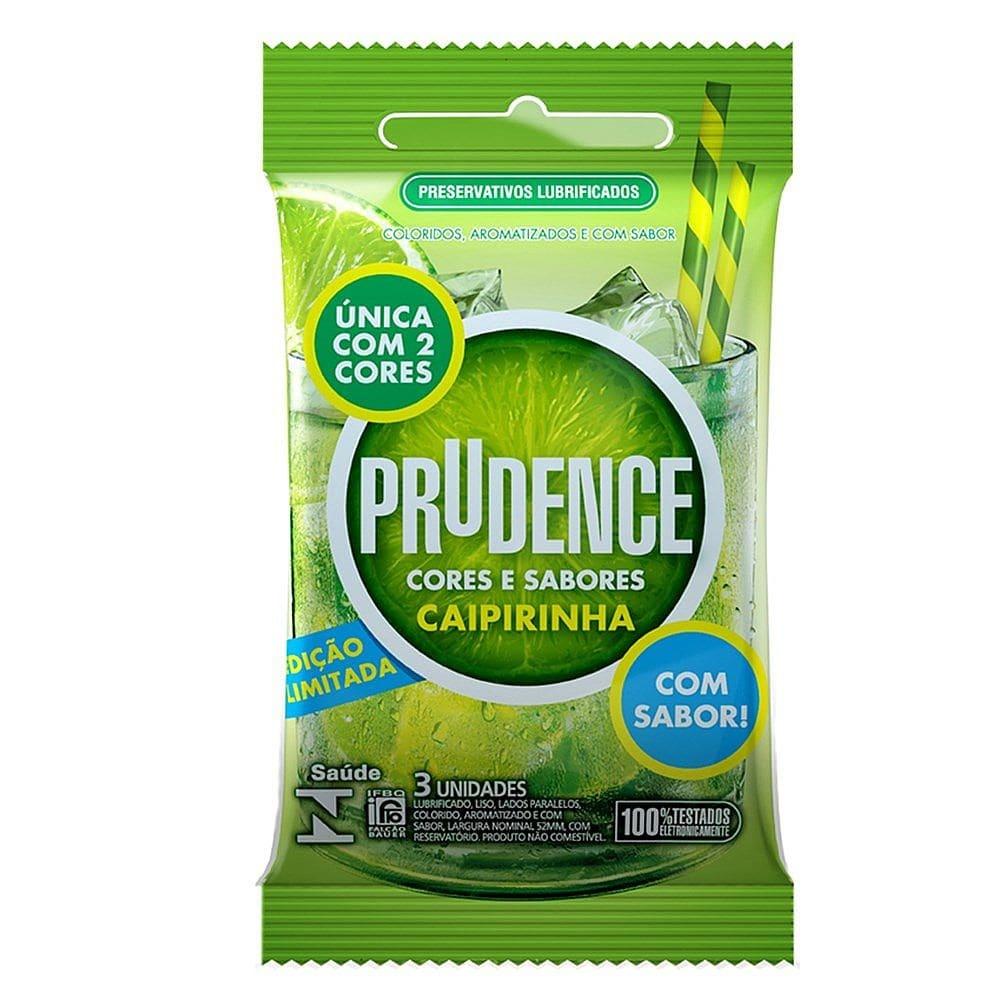 Preservativo Prudence Sabor Caipirinha  - Sex Shop Cuiaba - Sexshop - Sexyshop - Produtos Eróticos