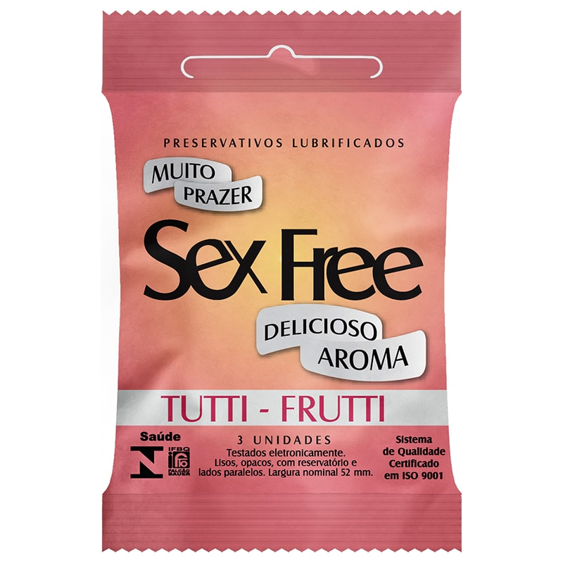 Preservativo Sex Free Aroma Tutti Frutti 3 Unidades