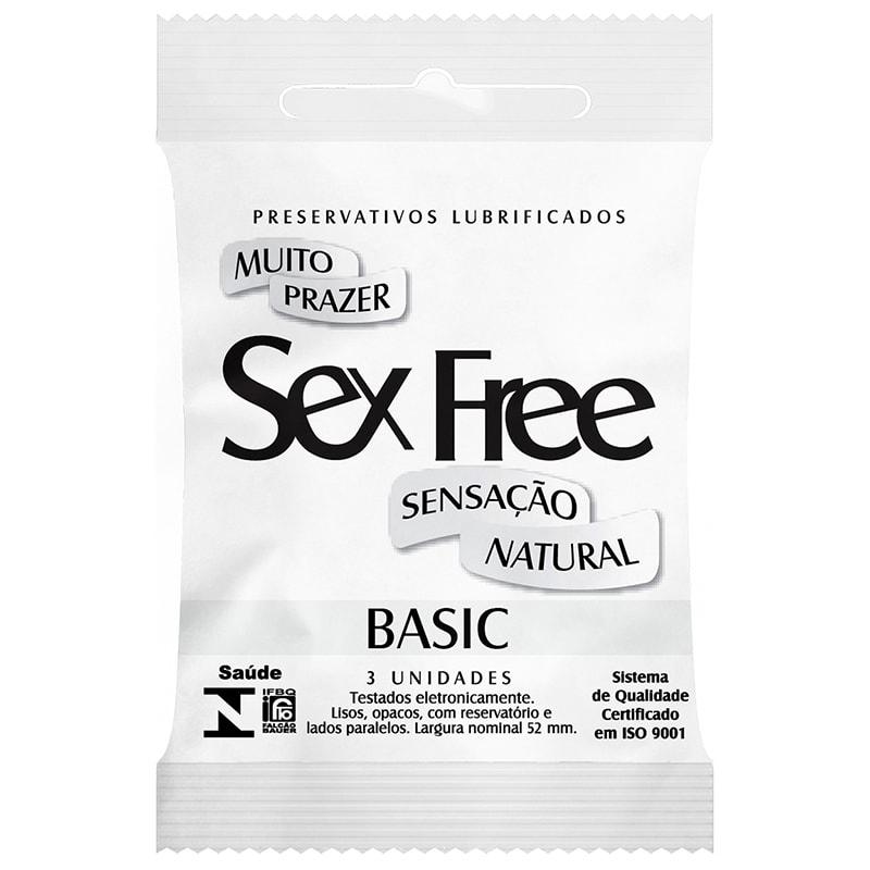 Preservativo Sex Free Basic Sensação Natural 3 Unidades
