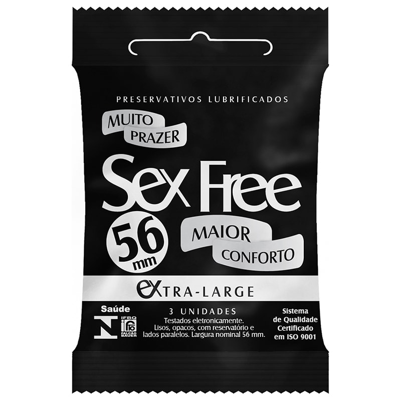Preservativo Sex Free Extra Large 56mm 3 Unidades