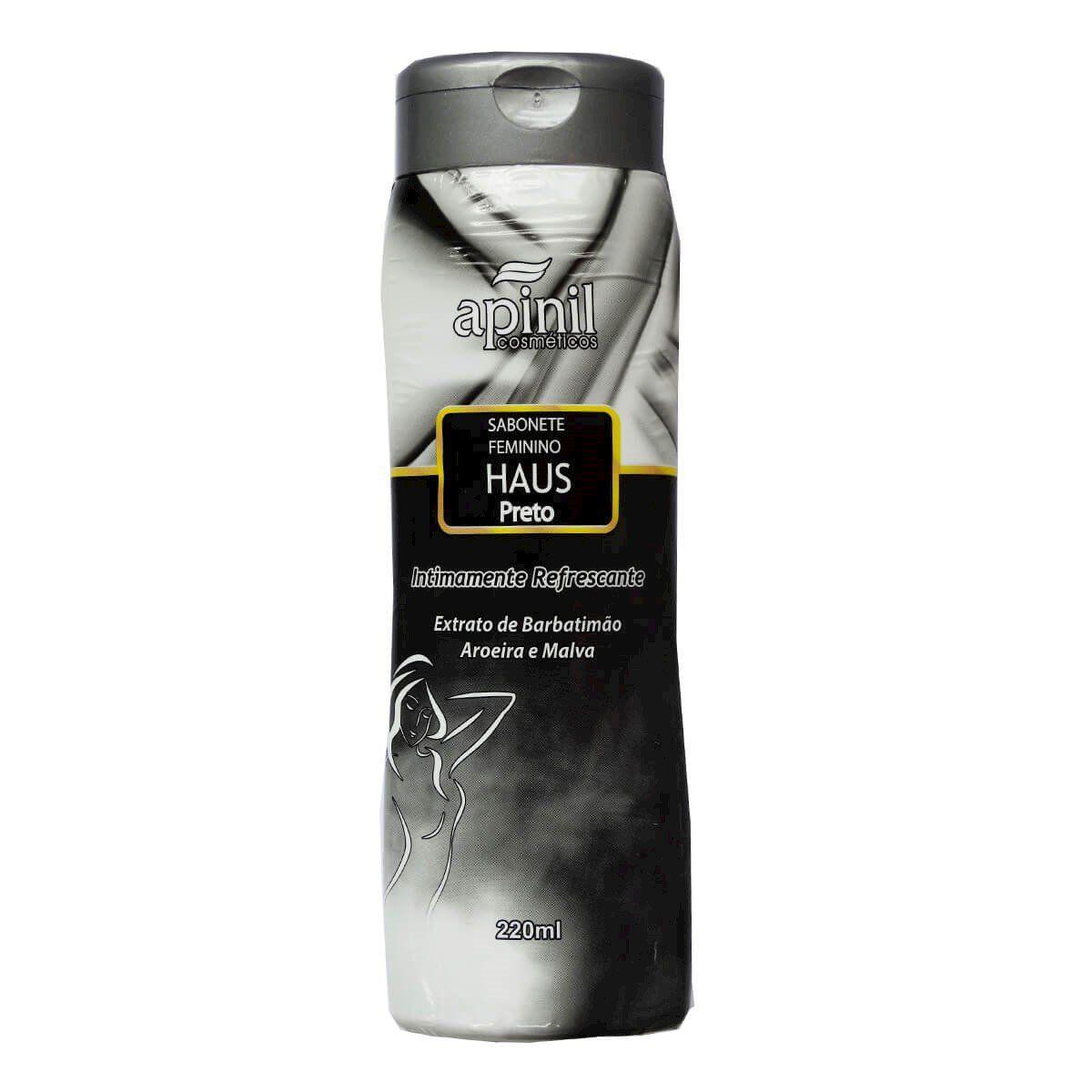 Sabonete íntimo feminino refrescante de halls preto