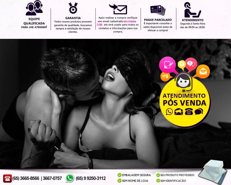 Strap On - Cinta com pênis realístico - Preto 18,5x4cm - Adão e Eva  - Sex Shop Cuiaba - Sexshop - Sexyshop - Produtos Eróticos