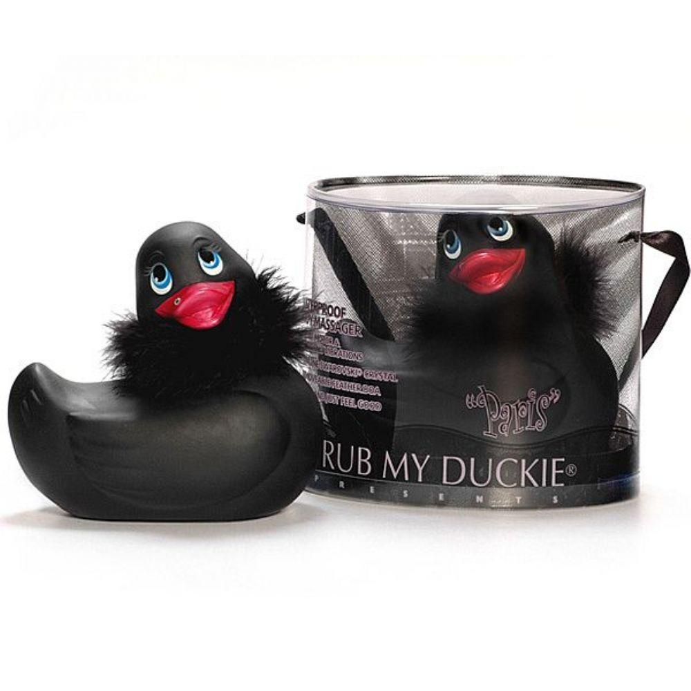 Vibrador I RUB MY DUCKIE PARIS em formato de Pato Black