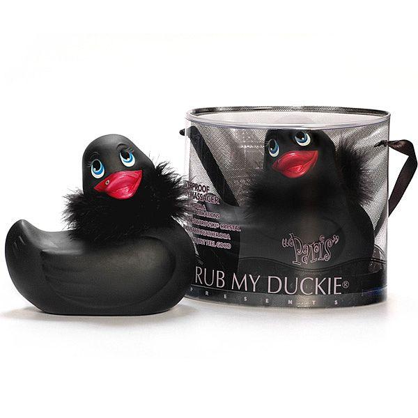 Vibrador I Rub My Duckie Paris Em Formato De Pato Black - Adão e Eva