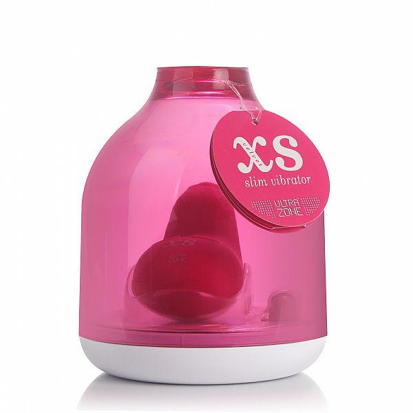 Vibrador XS Velvet Slim 8 cm ROSA em Silicone com 3 velocidades