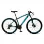 Bicicleta MTB Vega Aro 29 Quadro 15 Alumínio 21 Marchas Freio Mecânico Preto Azul - Spaceline
