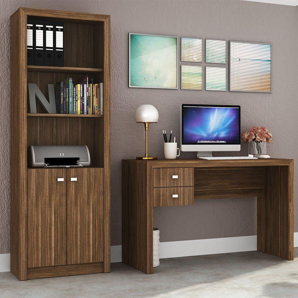 Ambiente para Home Office 02 Peças Nogal - Tecno Mobili