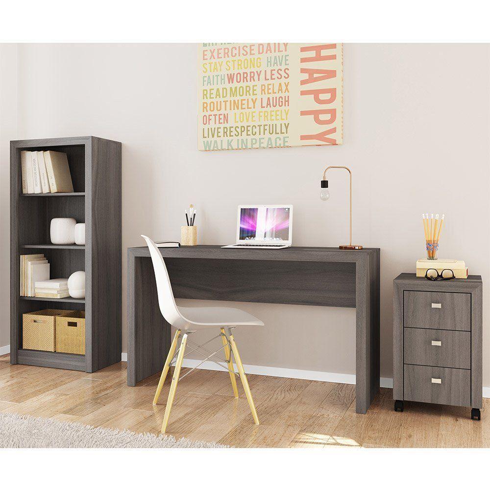 Ambiente para Home Office 03 Peças Carvalho - Tecno Mobili